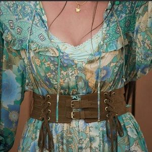 Spell Josephine suede belt XL rare size!